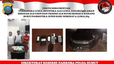 Photo of Libatkan Wanita ASN, Poldasu Ringkus 3 Anggota Sindikat Pengedar 5 Kg Sabu