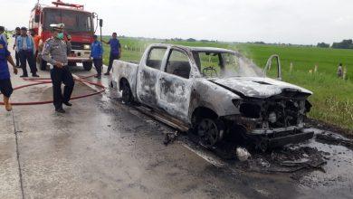 Photo of Mobil Dinas BPPRD Terbakar di Tol