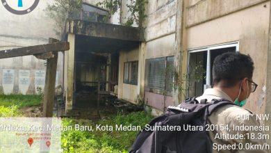 Photo of Gedung Asrama Putra USU Terbakar