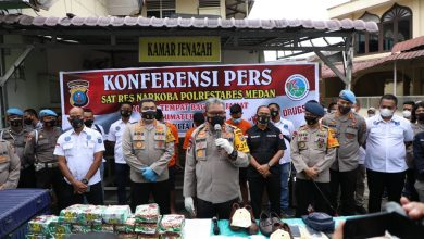 Photo of Polrestabes Medan Tembak Mati Sindikat Pengedar 26,9 Kg Sabu