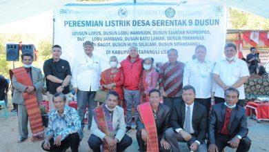 Photo of Terangi Sembilan Dusun Tapanuli Utara, Rasio Elektrifikasi Sumut Capai 99,99%