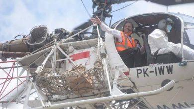 Photo of Syahrul Pasaribu Tinggalkan Kantor Bupati Tapsel Naik Heli