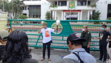 Photo of Lagi, Wartawan Unjuk Rasa ke Kantor Wali Kota Medan