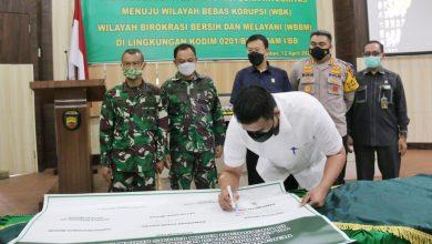 Photo of Wali Kota Medan Dukung Pencanangan Pembangunan Zona Integritas di Lingkungan Kodim 0201/BS