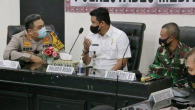 Photo of Wali Kota Medan Ikut Rakor Lintas Sektoral  Persiapan Pengamanan Jelang Idul Fitri 1442 H