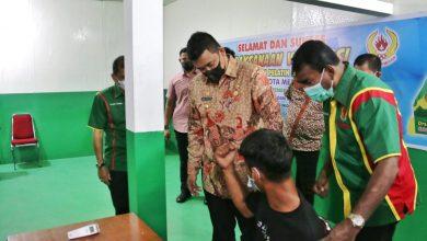 Photo of Giliran Pelatih dan Atlet Kota Medan Divaksin Covid-19